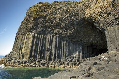 Fingal's cave and basalt columns