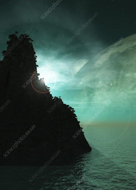 Exoplanet landscape, artwork