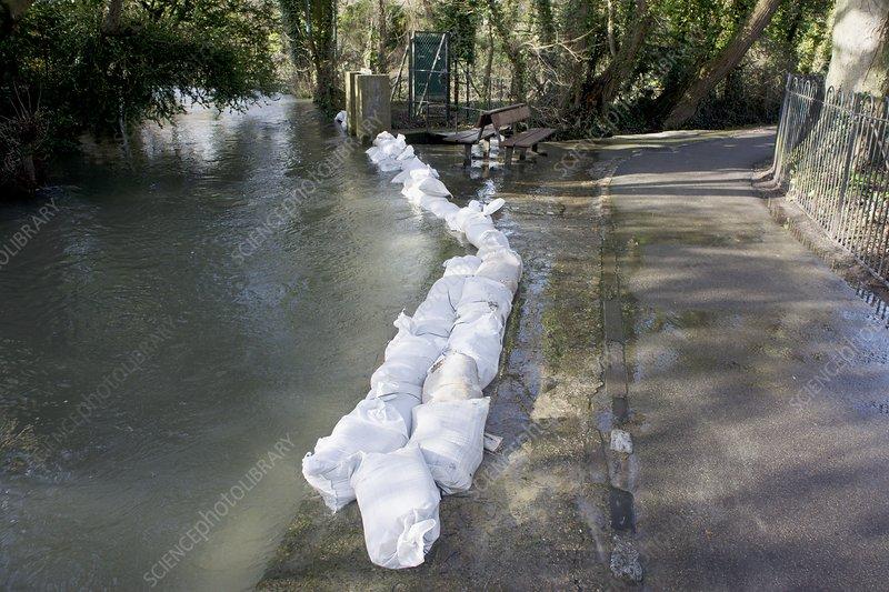 Sandbag Flood Defences