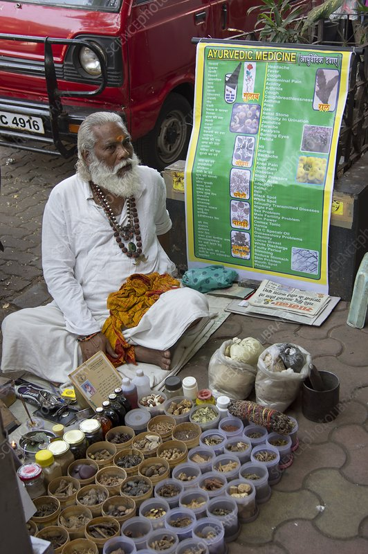 Traditional Indian medicine seller
