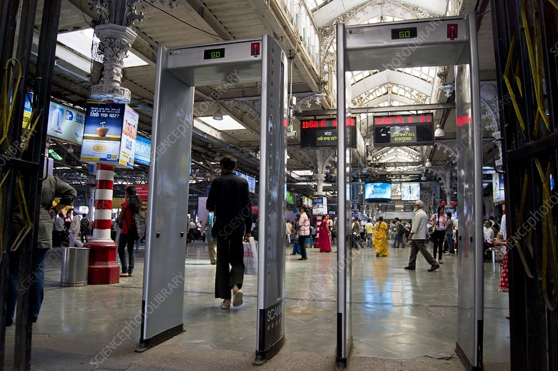Security scanners at Mumbai station