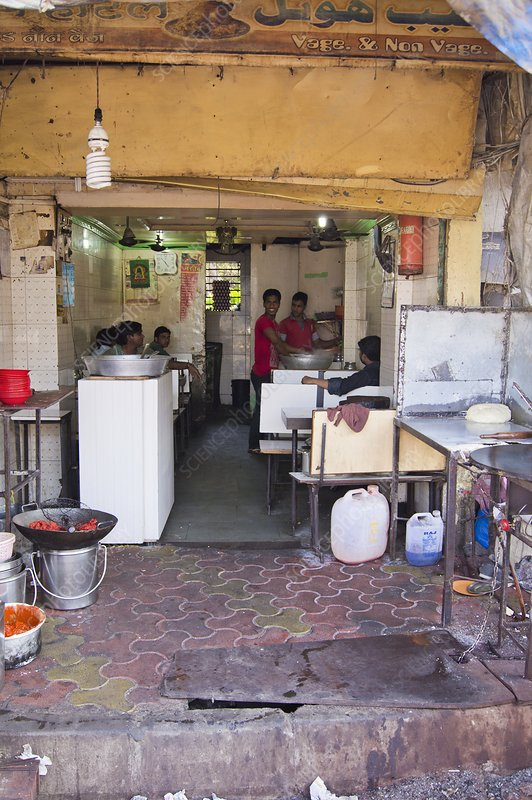 Restaurant in Dharavi slum