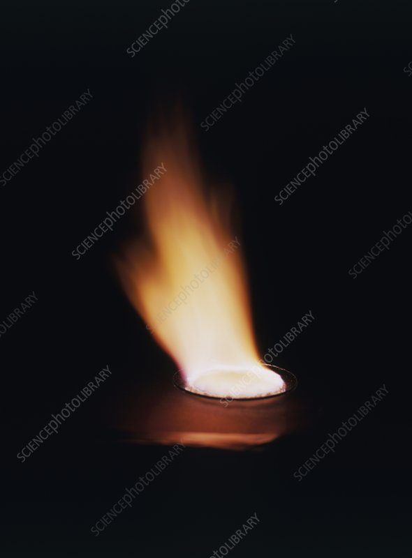 Orange flame, Lithium salts burning
