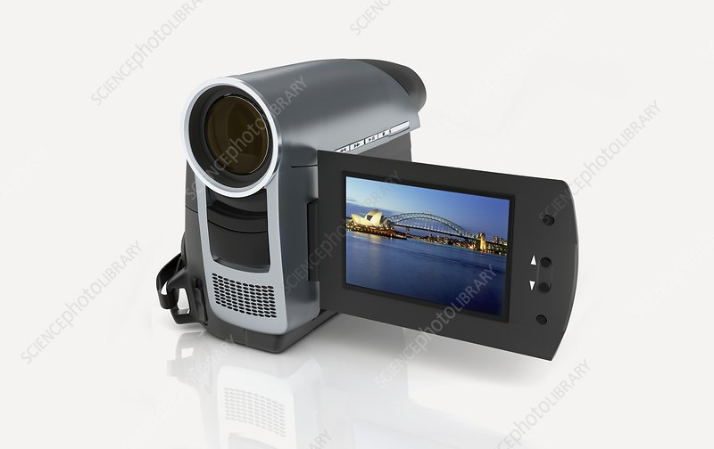 Camcorder showing Sydney Opera House