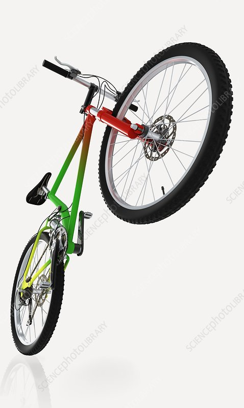Mountain bike, close-up