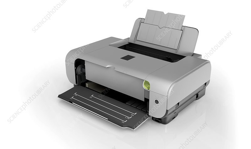Inkjet printer, high angle view