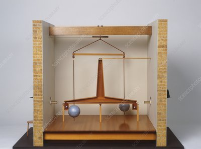 Model of a gravitational experiment