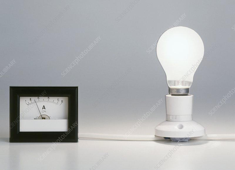 Lightbulb attached to ammeter