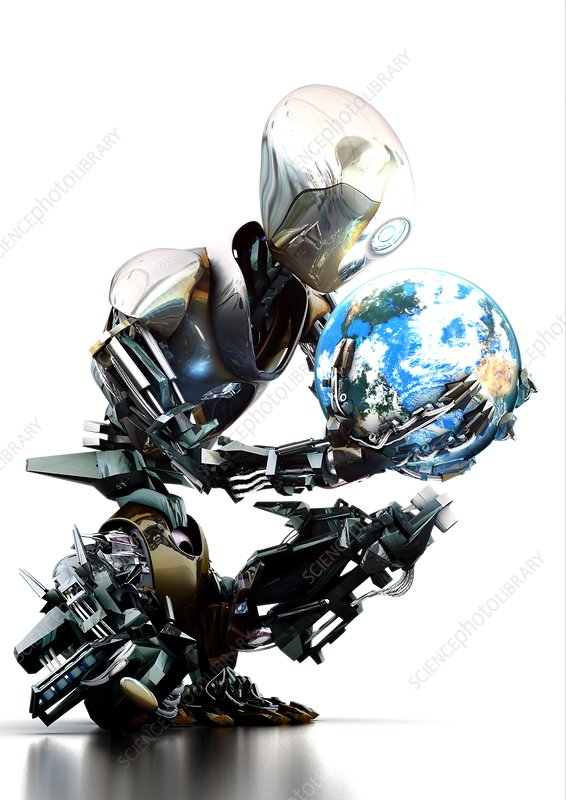 Robotic world, conceptual image