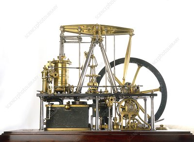 Replica of James Watt's steam engine