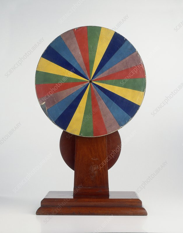 Replica of Newton's colour wheel