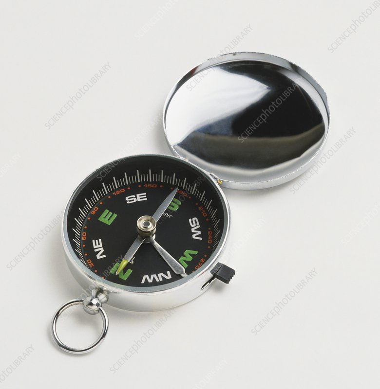 Open pocket compass