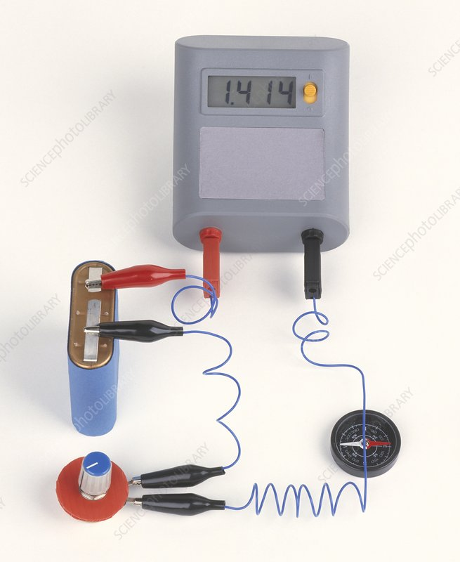 Experiment showing electromagnet effect