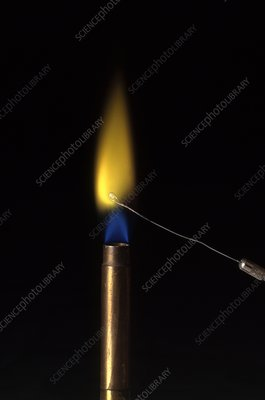 Flame test for Barium Chloride