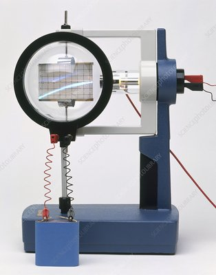 Experiment using cathode ray tube