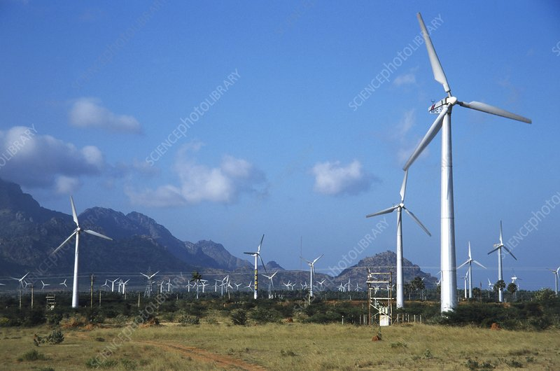 India, Tamil Nadu, wind turbines