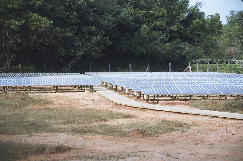 Solar power at Auroville, India