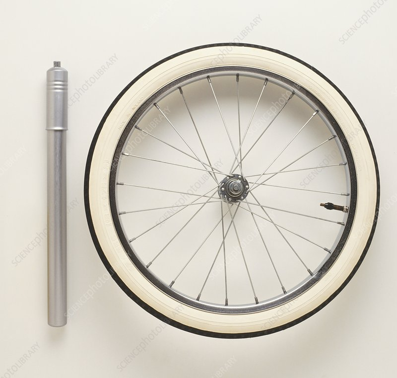 Thermometer, tyre pump and bicycle wheel