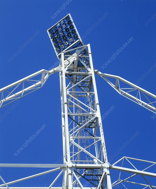 Floodlights on a tall pylon