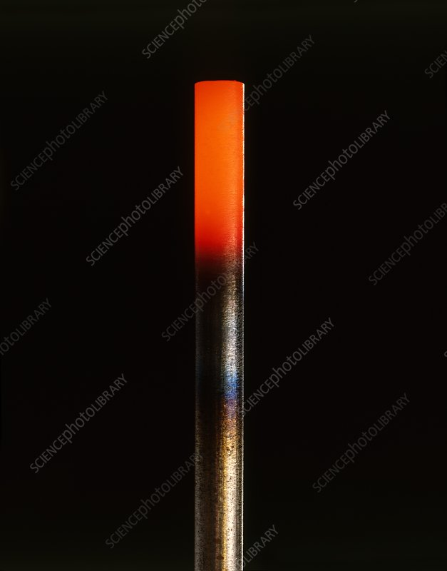 Heated iron bar
