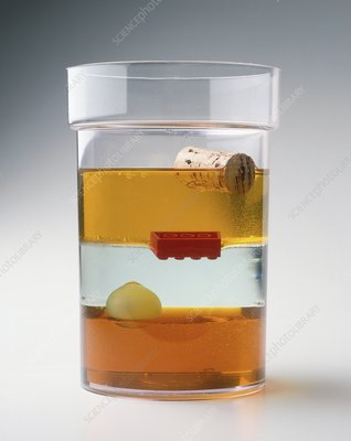 Glass containing layers of fluid