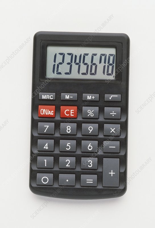 Electronic calculator with LCD display