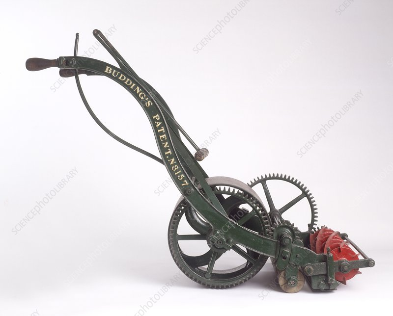 The first lawn mower dating from 1830