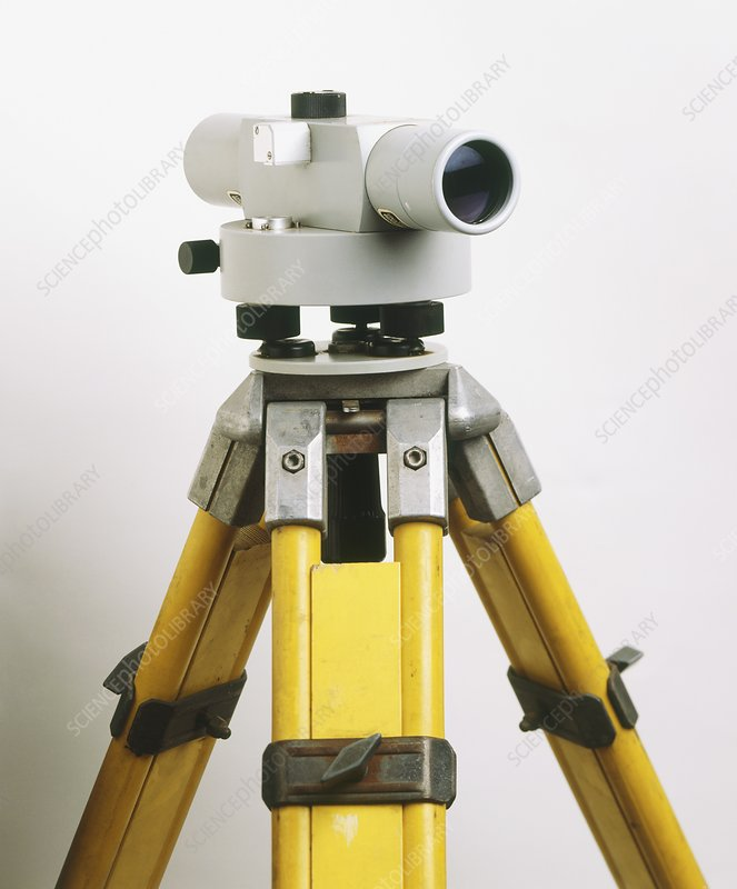 Automatic level on tripod