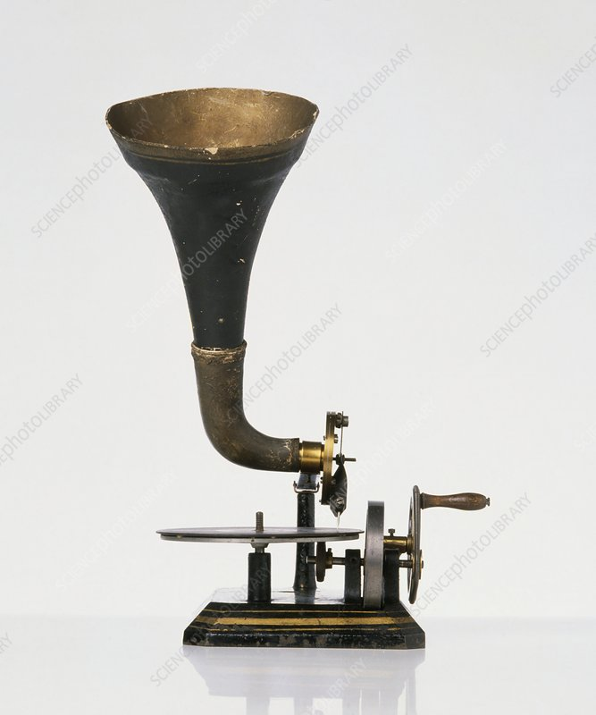 Horn gramophone, late 19th century