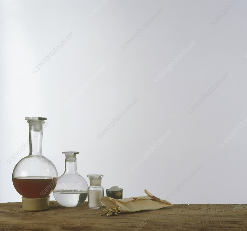 Chemistry equipment, glass flask