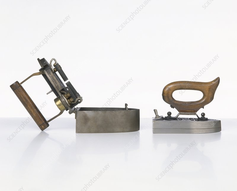 Early electric irons, 19th century