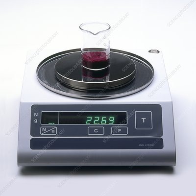Beaker containing cobalt chloride