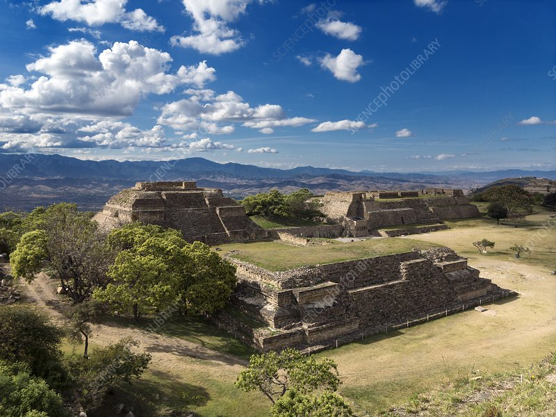 Monte Alban buildings, Mexico