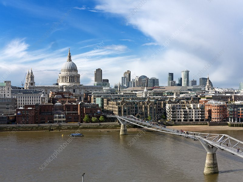 London skyline, St Paul's Cathedral