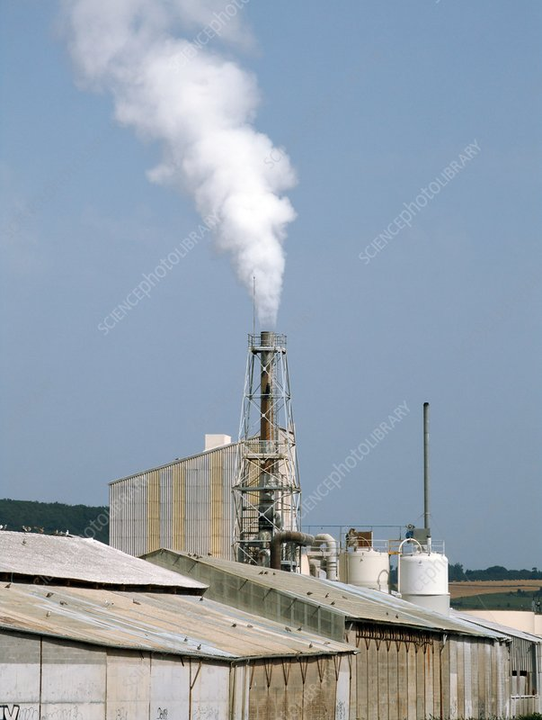 Fertiliser factory smokestack