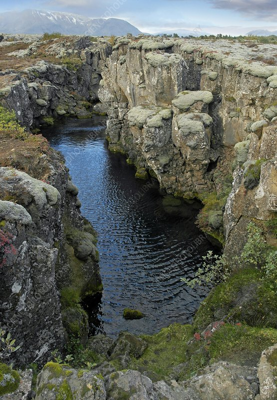 Tectonic plate boundary, Iceland