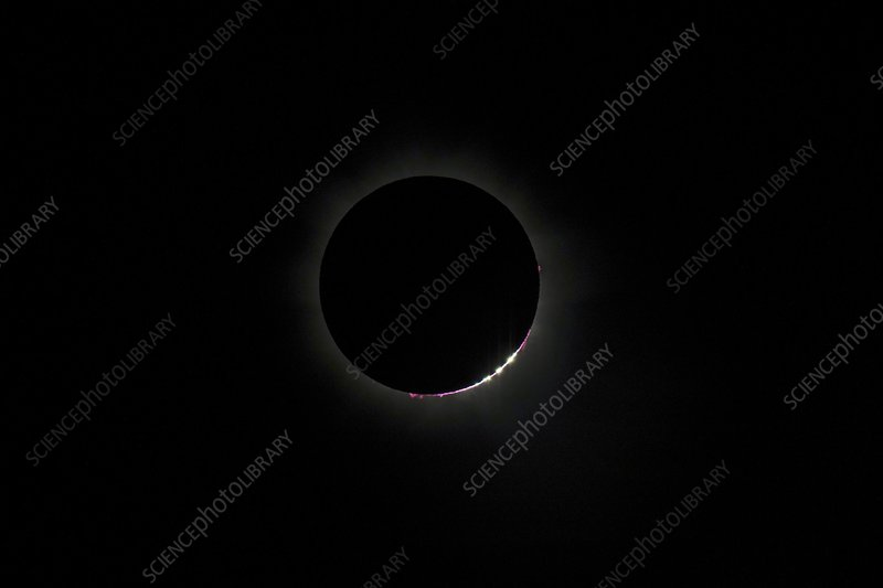 Total solar eclipse, diamond ring