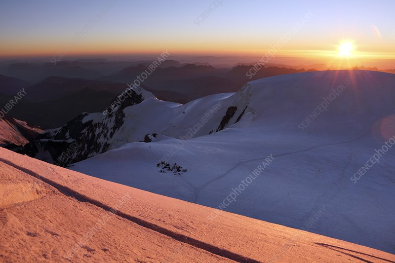 Sunset from Mont Blanc