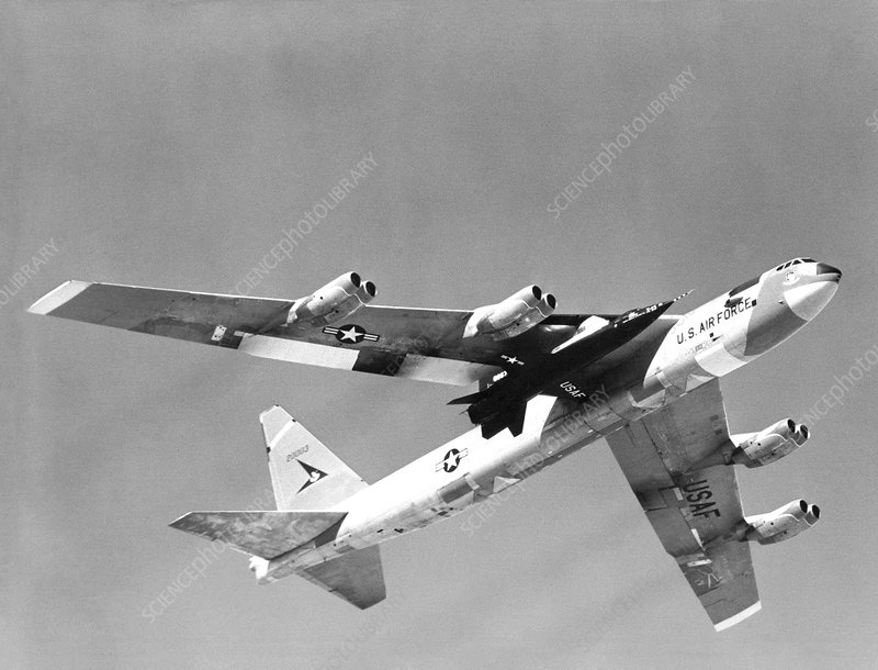X-15 mated to its mothership B52