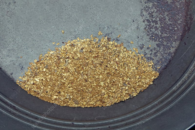 Panned Gold Stock Image C020 0483