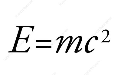 Einstein's mass-energy equation, artwork