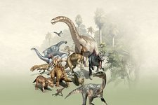 Group of dinosaurs, artwork