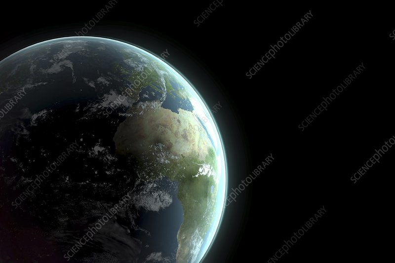 Earth Artwork Stock Image C020 0915 Science Photo Library