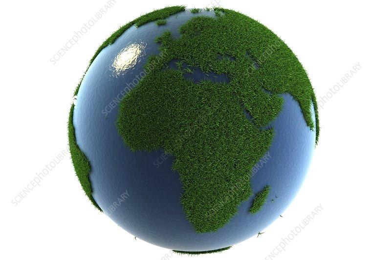 A Greener Earth Artwork Stock Image C020 1535 Science