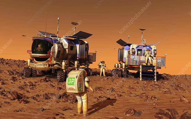 Mars rovers rendezvous, artwork
