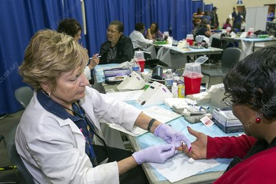 Blood sampling, healthcare screening