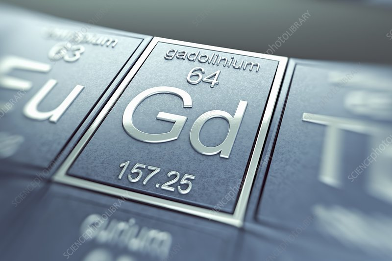 Gadolinium, artwork