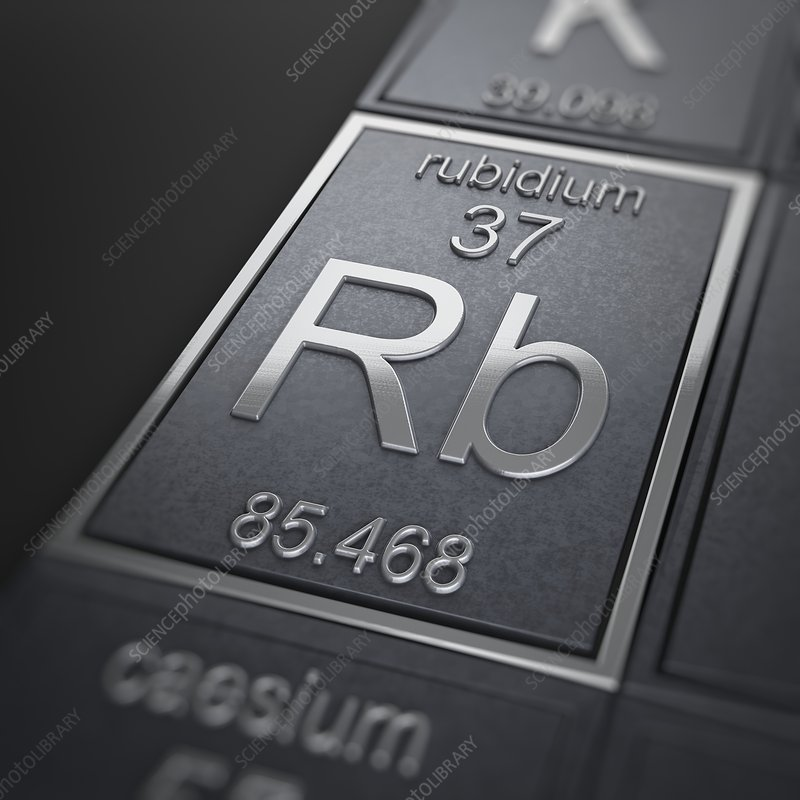 Rubidium, artwork