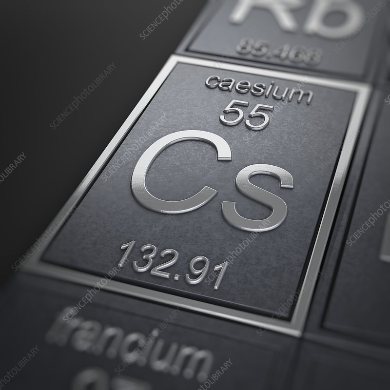 Caesium, artwork