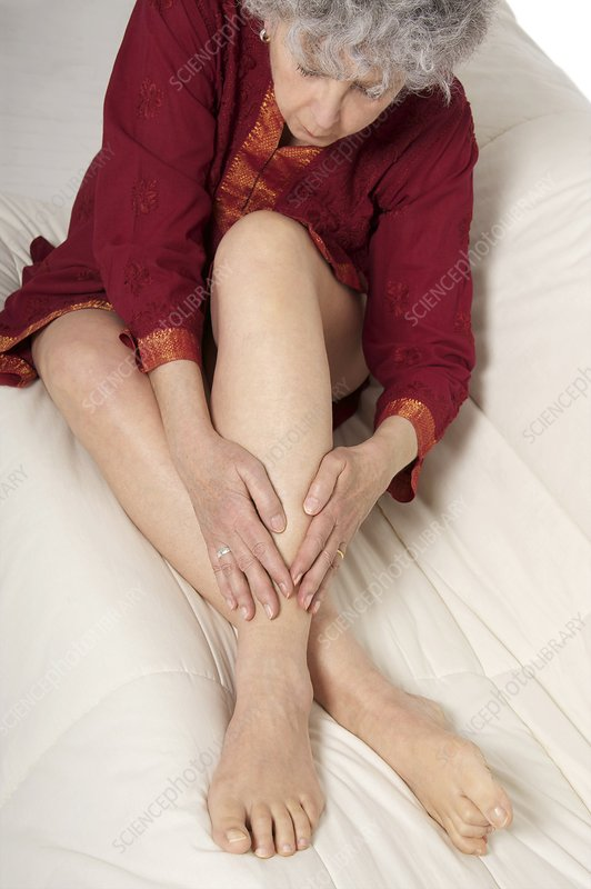Patient nursing a sore ankle